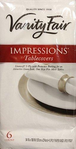 Amazon Com Vanity Fair Disposable Tablecovers 3 Ply 54 X 108 6