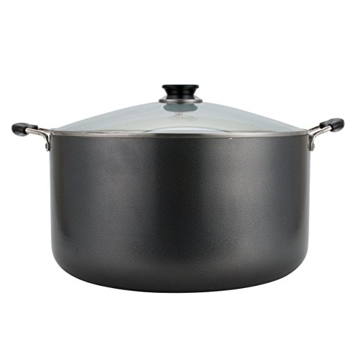 Aramco Alpine Gourmet Aluminum Non-Stick Coating Dutch Oven, 30 quart, Silver/Gray