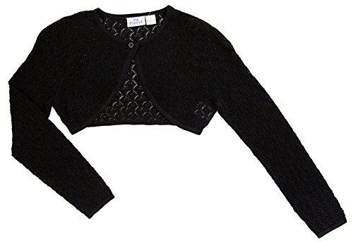 Knitting Pattern Cropped Cardigan - Ms Purple Girls' Cropped Crochet Cardigan Medium Black