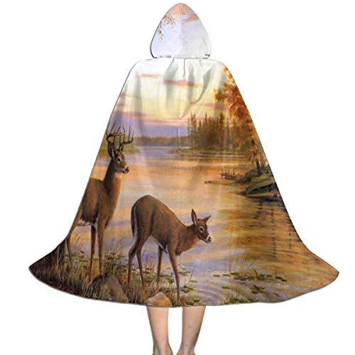Perfectly Customized Clokes with Hoods for Kids Deer Hooded Cape for Halloween Costumes Riding ()