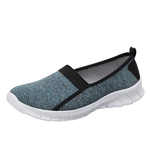 À Bazhahei Clair Semelle Porter Chaussures Souple Facile Décontractées Bleu Antidérapant Respirant De Femmes Mocassin Sport Paresseuses TvAdZwqAO