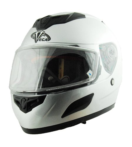 Vega Insight Snow Full Face Helmet (Silver, X-Small) (Vega Snow Helmet)