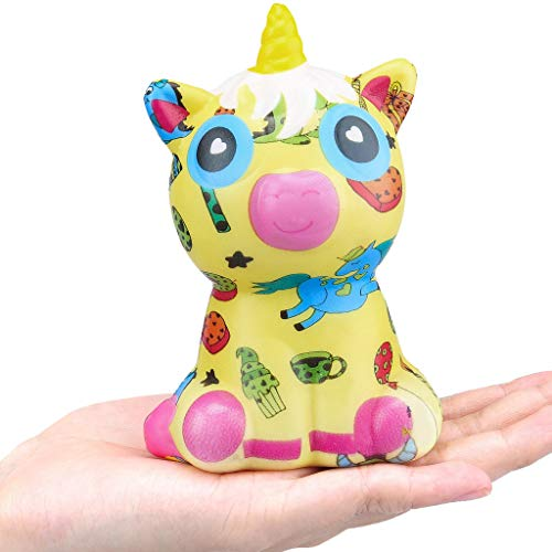 2019HoHo Adorable Squishy Squeeze Toys for Kids Adults Colorful Unicorn Cow Stress Anxiety Relief Toys Cute Decompression Vent Toy