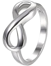925 Sterling Silver Ring High Polish Infinity Symbol Tarnish Resistant Comfort Fit Wedding Band Ring