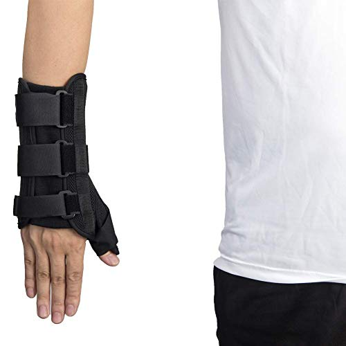 Thumb & Wrist Spica Splint, Adjustable Wrist Guards Immobilizer Splint for Carpal Tunnel, Arthritis, Tendonitis, Sprain and Strain (Thumb Wrist Brace, Right - M)