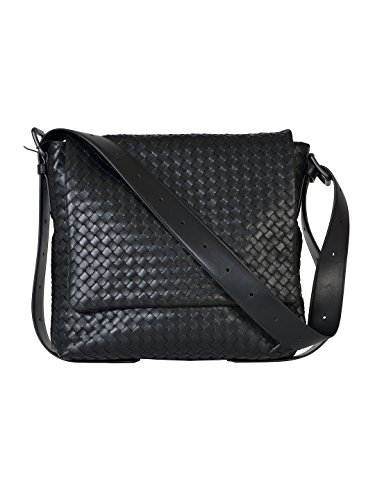 bottega-veneta-mens-406275vq1311000-black-leather-messenger-bag