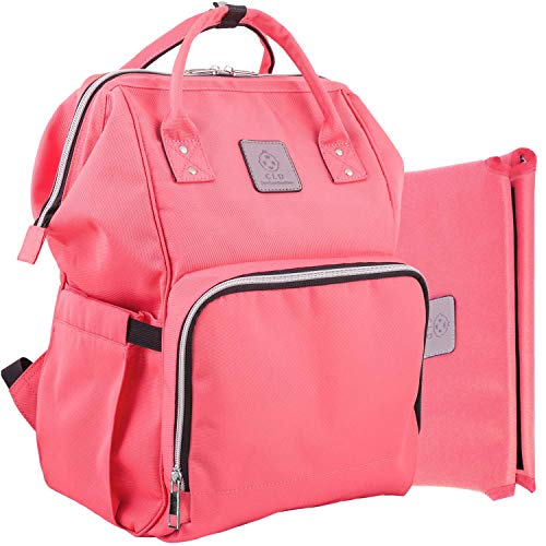 Baby Bag Backpack for Travel and Portable Changing Mat Set - Multifunction Diaper Bag for Moms and Dads Made from 900 D Waterproof Nylon - Suitable as a Baby Shower Gift for Boys and Girls