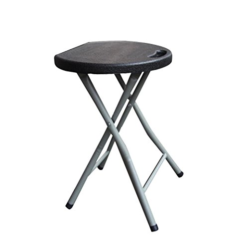 Ankola Folding Stool, 18 inch Heavy Duty Study, Light Weight Metal and Plastic Folding Stool, Chairs, 6 Colors Portable Indoor&Outdoor Folding Stools ,400lb Capacity (Black)