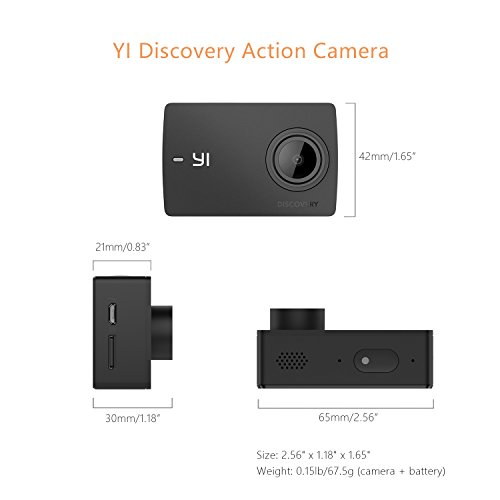 "41hHAr0NXjL - YI Discovery Action Camera, 4K Sports Cam with 2.0"" Touchscreen, Built-in Wi-Fi, 150°Wide Angle, Sony Image Sensor for Underwater, Outdoor Activity"
