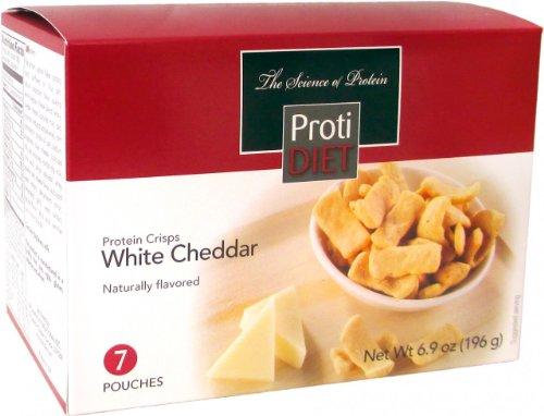 Proti régime cheddar blanc croustillants de protéines (7 sachets)