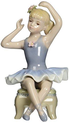 Cosmos 96533 Fine Porcelain Ballerina on Chair Figurine, 5-1/2-Inch