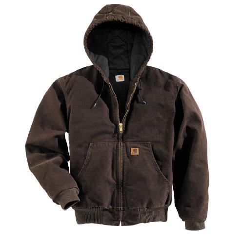 Carhartt Men's J130 Sandstone Duck Active Jacket - Quilted Flannel Lined - (Carhartt Flannel Lined Duck Dungarees)