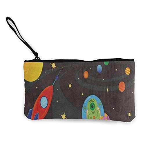 Canvas Coin Purse Spaceship...