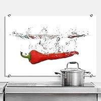 Paraschizzi per cucina, Peperoncino, con fissaggio a morsetto
