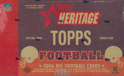 2006 Topps Heritage Football Cards Wax Box (Hobby ()