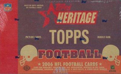 2006 Topps Heritage Football Cards Wax Box (Hobby Edition)