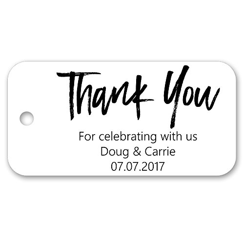 Thank You Personalized Custom Party Wedding Favor Gift Tags - 3