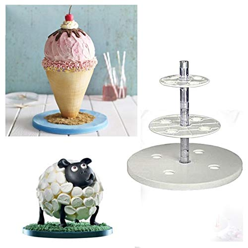 Cake Decorating Tools Anti-Gravity Cake Kit Multi Tiered Cake Stand Wedding Decoration Baking Tool Cake Tools by Monster*