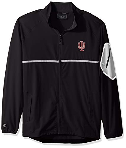 Ouray Sportswear NCAA Indiana Hoosiers Men's Weld Full Zip Jacket, Carbon/White, 2X