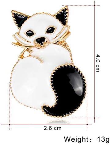 Sicond Mode personnalit/é Broche Vintage en /émail Broche en Alliage Lovely Cat Broche pins recouvert /écharpes Ch/âle Clip V/êtements Broches pour Femmes