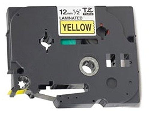 Prestige Cartridge Nastro per Etichette, Sostituisce TZ631/TZe631, 12mm x 8m, 5 Pezzi, Nero su Giallo Five TZ631