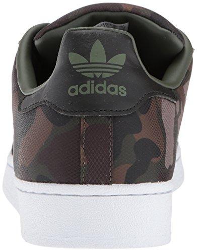 Adidas Originali Mens Superstar Fondazione Casual Sneaker Notte Cargo / Nero / Nero