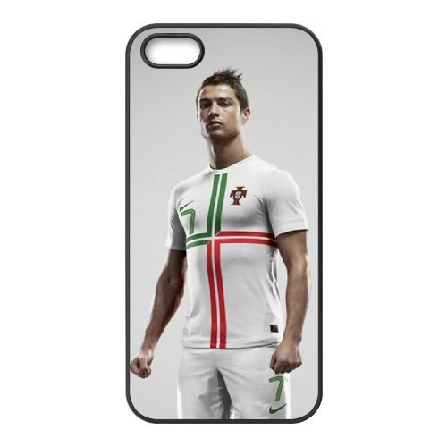 Cristiano Ronaldo Portugal Away Kit 2012 Uefa Euro Soccer Star coque iPhone 5 5S cellulaire cas coque de téléphone cas téléphone cellulaire noir couvercle EOKXLLNCD22999