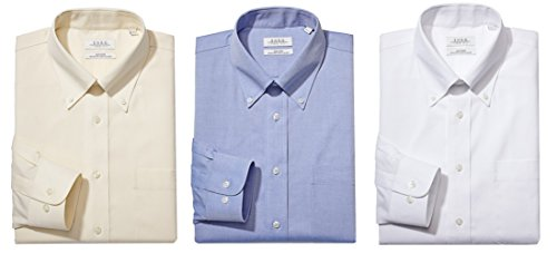 Enro Non-Iron Button Down Collar Solid Color Dress Shirt (3-Pack) ()