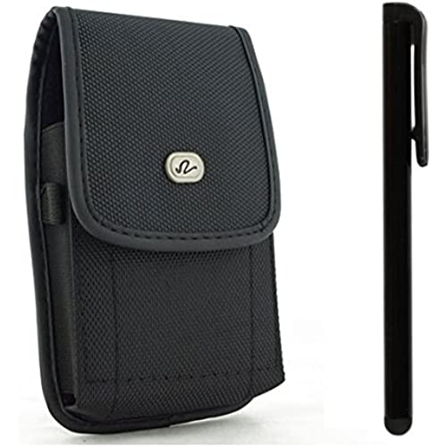 Vertical Nylon Canvas Pouch Carrying Case Holster with Belt Clip and Secure Closure Fits Samsung Galaxy S7 EDGE Sales