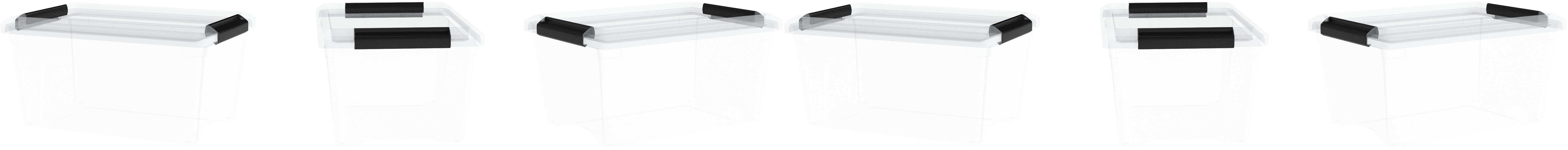 27 L wei/ß Iris Ohyama Box Chest NSBC-500 Set mit 3 stapelbaren Schubladen f/ür Aufbewahrung//K/üche//B/üro Polypropylene