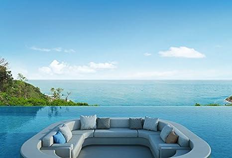 Amazon.com : Laeacco Swimming Pool Photography Background ...