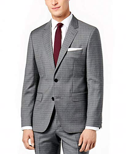 (Hugo Boss Men's Charcoal Extra Slim Fit 2 Piece Luxurious Business Wool Suit C-Jeffrey C-Simmons by Hugo (40 Short USA Jacket / 34 Waist)