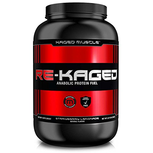 Kaged Muscle Re-Kaged Max Anabolic Protine Fuel Recovery Post Workout Protein Isolate Powder with Pure BCAAs, Patented Creatine and Pure Glutamine, Strawberry Lemonade, 2.07 lb