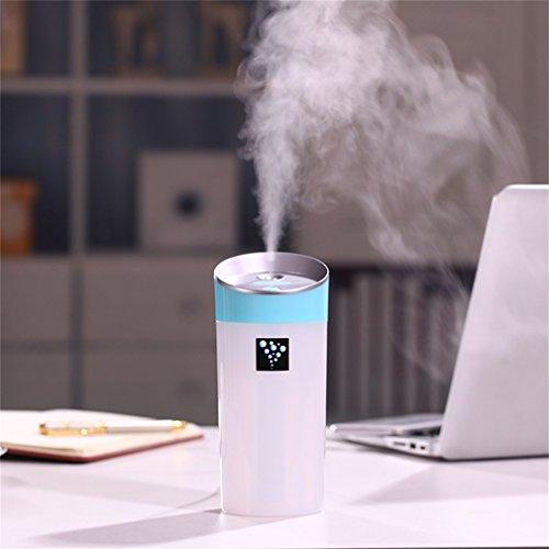 車用卓上USB加湿器,小型 加湿器USBカーチャージャー USBミニ加湿器 アロマ低騒音 車用卓上 省エネ 湿気 浮遊粉塵を減らす空気を浄化する