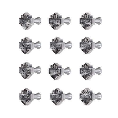 (Harley-Davidson Ace Products HDL-10110 Antique Pewter Finish Custom Zinc Cast Cabinet Knobs - Quantity 12)