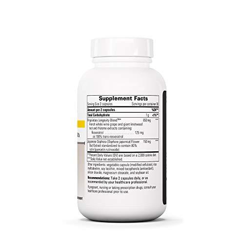 Integrative Therapeutics - Resveratrol Ultra - Anti Aging Formula - Spports Cellular Health to Reduce Oxidative Stress - 60 Capsules by Integrative Therapeutics (Image #1)