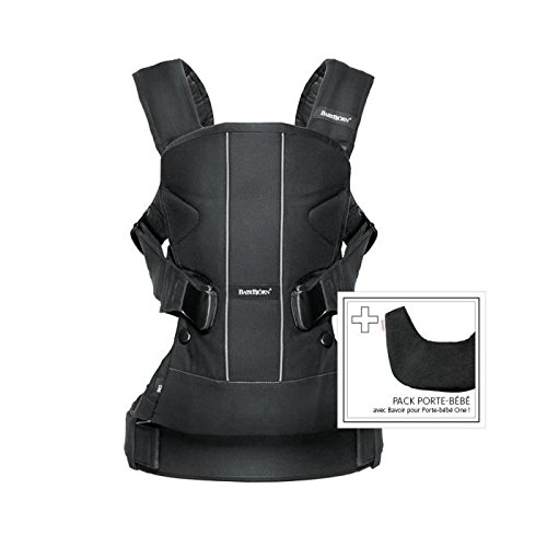 BABYBJÖRN Baby Carrier One In Cotton With Bib, Black