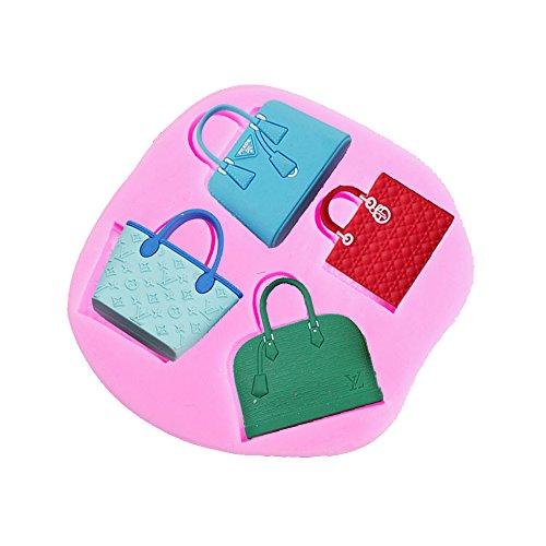 Baidecor Handbag Shape Silicone Chocolate Molds Candy Mold Set Of 3