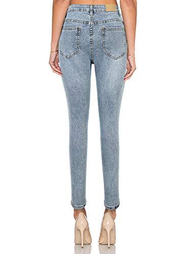 Jeans Super jeans vita Blu KT SUPPLY alta di elasticizzati Jegging Pantaloni a skinny Stretch Chiaro elastici 5qS4w47R