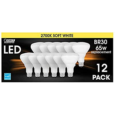 Feit Electric 65 Watt Replacement LED Br30 Energy Star Flood Soft White, 12 Pk
