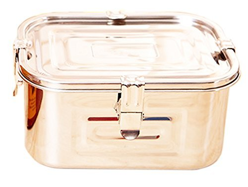 Stainless Steel 101oz(3L)Rectangular Seal Kimchi Food Leakproof Airtight Storage Container Saver