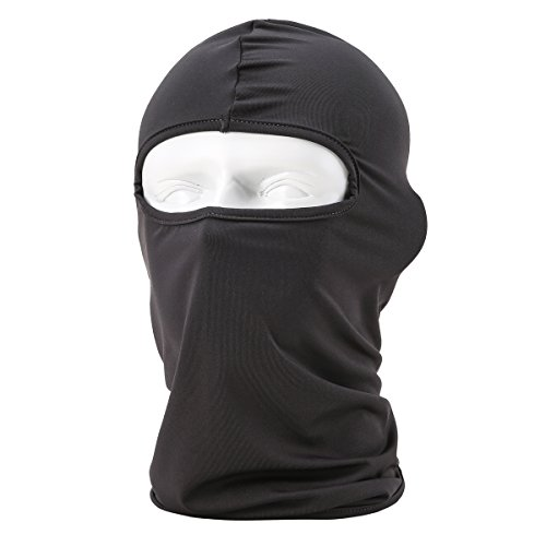 Dorlaer Motorcycle Cycling Hood Hat Balaclava Full Face Mask For Sun UV Protection (Black) (Skull Sock Mask)