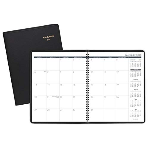 """AT-A-GLANCE 2019 Monthly Planner, 9"""" x 11"""", Large, Black (7026005) from AT-A-GLANCE"""