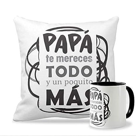 Personaliza tu carcasa Pack Taza + Cojín Ideales para el Día ...