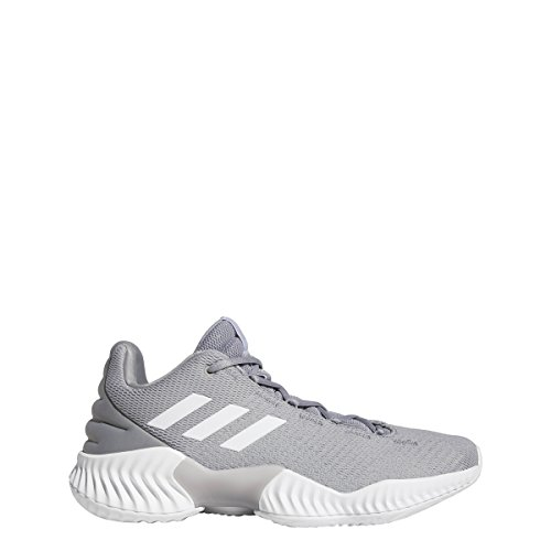 adidas Pro Bounce 2018 Low Shoe Men's Basketball 10.5 Light Onix-White (Mens Lowcut Basketball Shoes)
