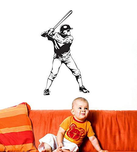 Baseball Decal Baseball Decor Baseball Party Decorations Pitcher Catcher Batter Outfield MLB Wall Decal Home Kid's Bedroom Decor Made in USA