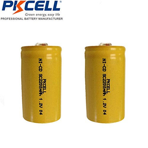 1.2v NiCd 2200mAh Sub C SC Rechargeable Battery  (2pc)