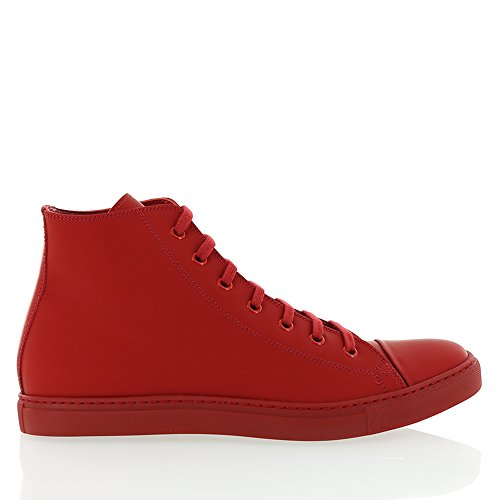 Angelo Burlinetto Menns Matt Skinn High Top Red