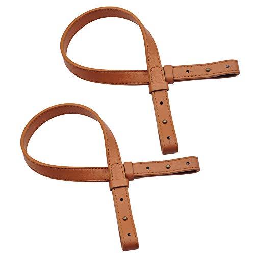 (TopTie Adjustable Shoulder Bag Strap, Classic PU Leather Replacement Strap-Camel 2PCS)