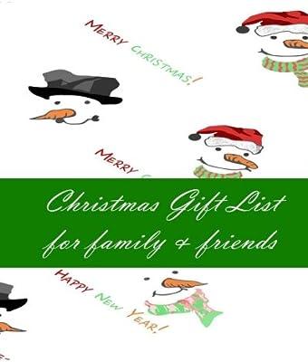 Family Christmas Gift Lists.Christmas Gift List For Family Friends Christmas Shopping